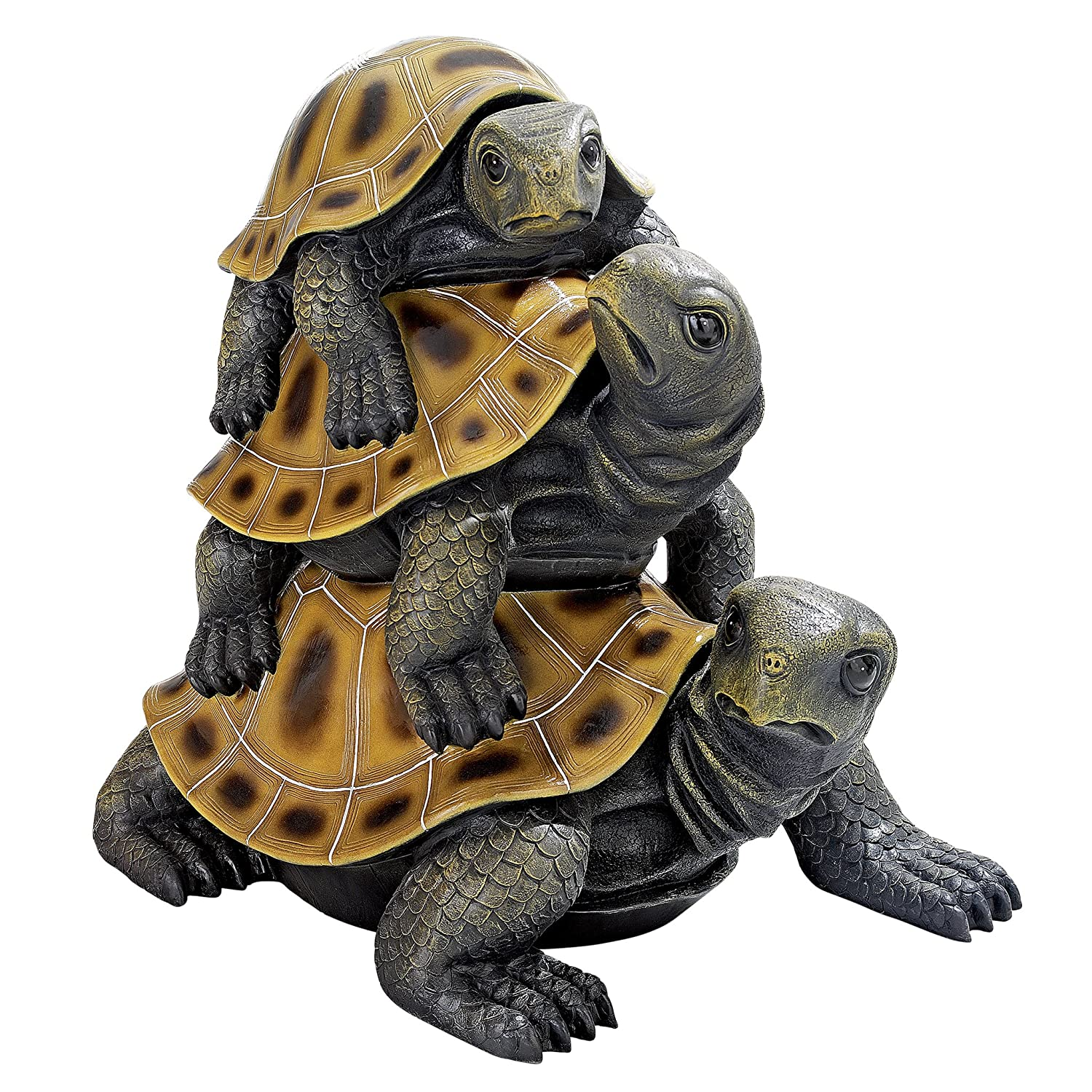 Design Toscano Threes a Crowd Stacked Turtle Statue