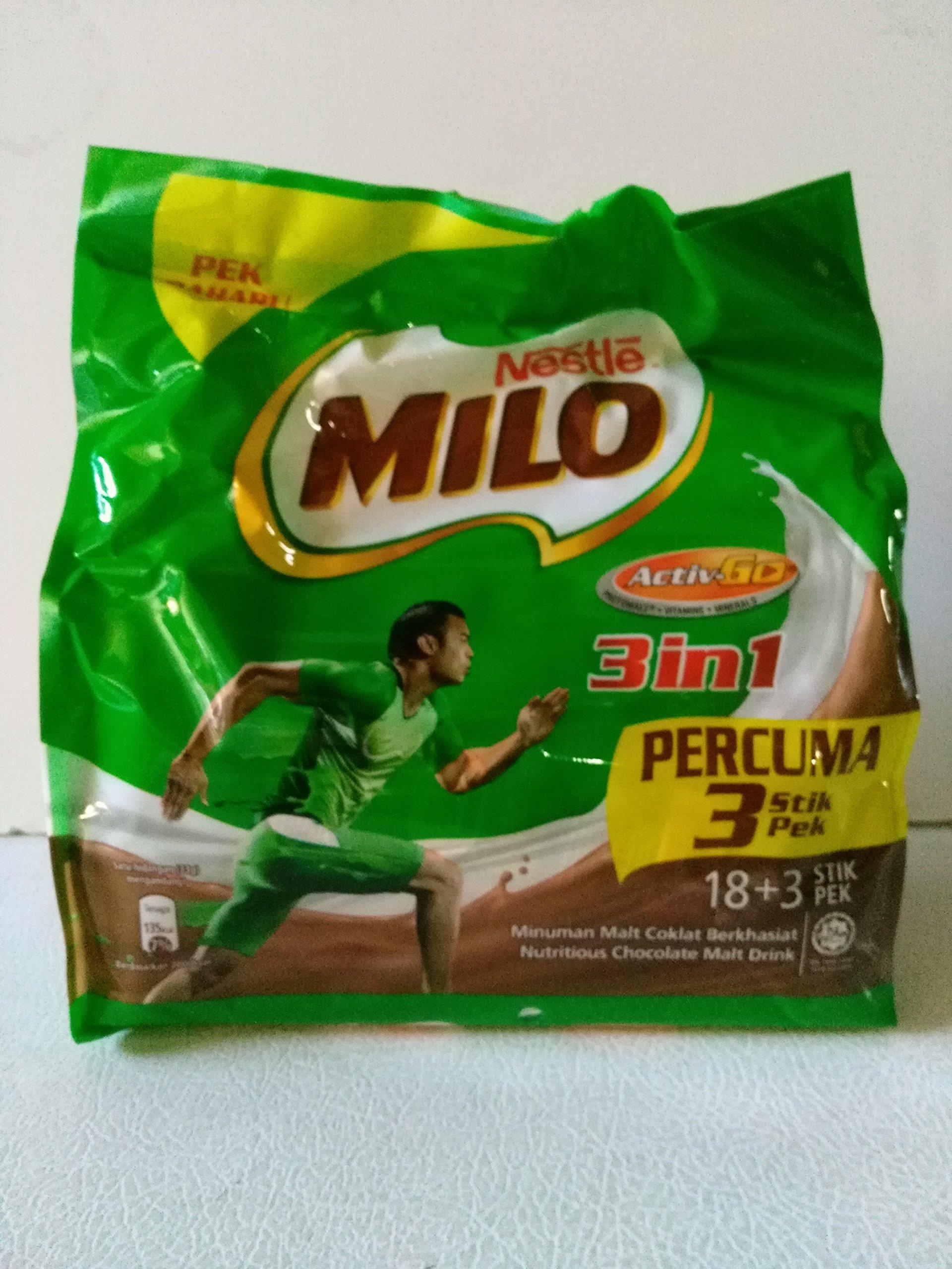 Milo Chocolate Malt Drink Activ-Go 3 in 1 33g