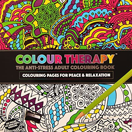 120 Page Adult Colouring Book Anti Stress Art Therapy Positive Zen