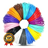 3D Pen Filament Refills 1.75mm ABS 280 Linear Feet Total 14 Different colors fun pack FREE Stencils eBook & 4 Glow In Dark Colors Included