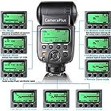 CameraPlus- CP-N580HSS - Flash TTL pour Speedlite HSS appareil photo numérique reflex Nikon - Sans fil professionnel HSS 1/8000s i-TTL II Auto Zoom Speed Lite compatible avec Nikon TTL sans fil système de flash(Compatible avec Nikon SLR: D3000,D5000,D3100,D3200,D3300,D5100,D5200,D5300,D7000,D7100,D7200,D50,D60,D70,D70S,D80,D90,D200,D300,D300S,D600,D610,D700,D750,D800,D810,D3S)