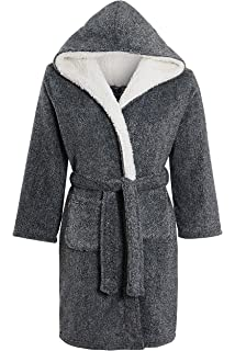 ABClothing Kids /& Adult Fluffy Dressing Gown Thick Robe with Pockets and Belt