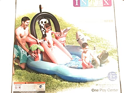 Amazon.com: Intex hinchable pirata centro de juegos piscina ...