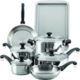 Farberware 70217 Classic Traditions Cookware Set, Large, Stainless Steel