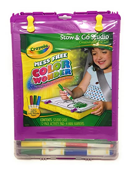 Amazon.com: Crayola, Color Wonder Mess-Free Coloring, Stow & Go ...