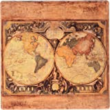 Thirstystone Old Map Stoneware Coaster, Multicolor