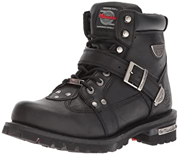 a961a471b6e Milwaukee Motorcycle Clothing Company Road Captain Leather Women's  Motorcycle Boots (Black, Size 10.5C)