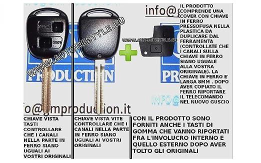 13 opinioni per G.M. Production- 1383Kit- Chiave Scocca-Guscio-Cover Key TOYOTA senza Logo Con