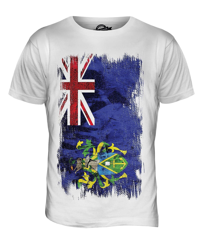 CandyMix Men's Pitcairn Islands Grunge Flag T Shirt T-Shirt Top