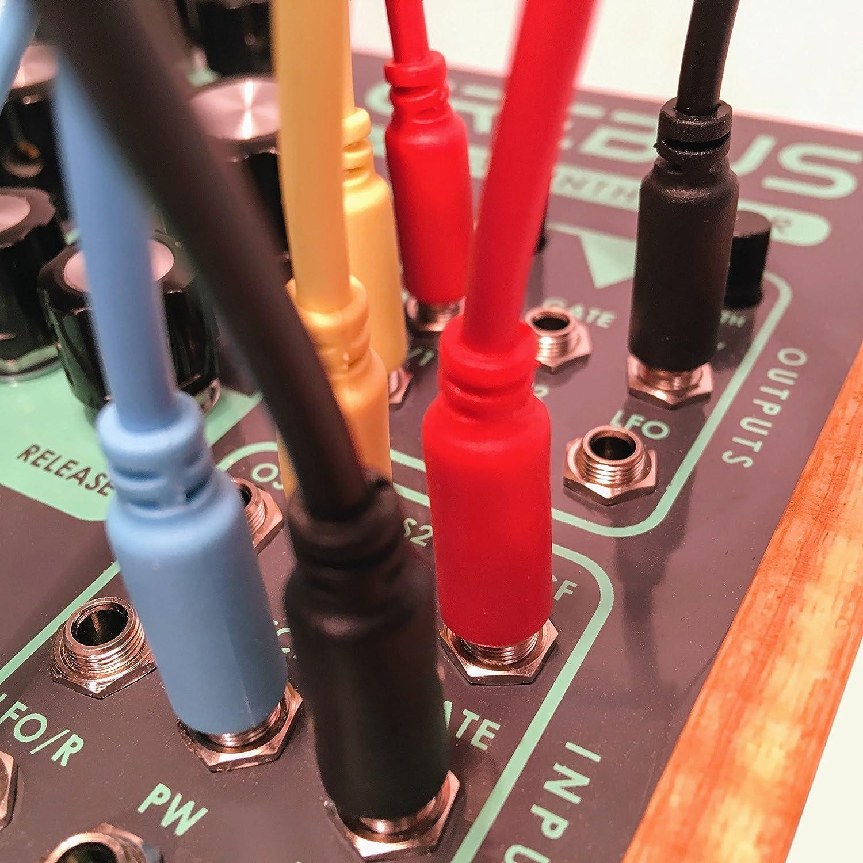 15//30//60//90//150cm Paquete de 5 Eurorack Modular Cables de Patch mono minijack de 3,5 mm