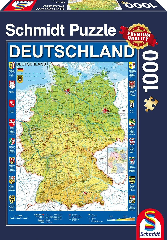 Schmidt Spiele 58287 Puzzle Puzzle - Rompecabezas (Puzzle Rompecabezas, Mapas, Niños, 12 año(s), 493 mm, 693 mm): Amazon.es: Juguetes y juegos