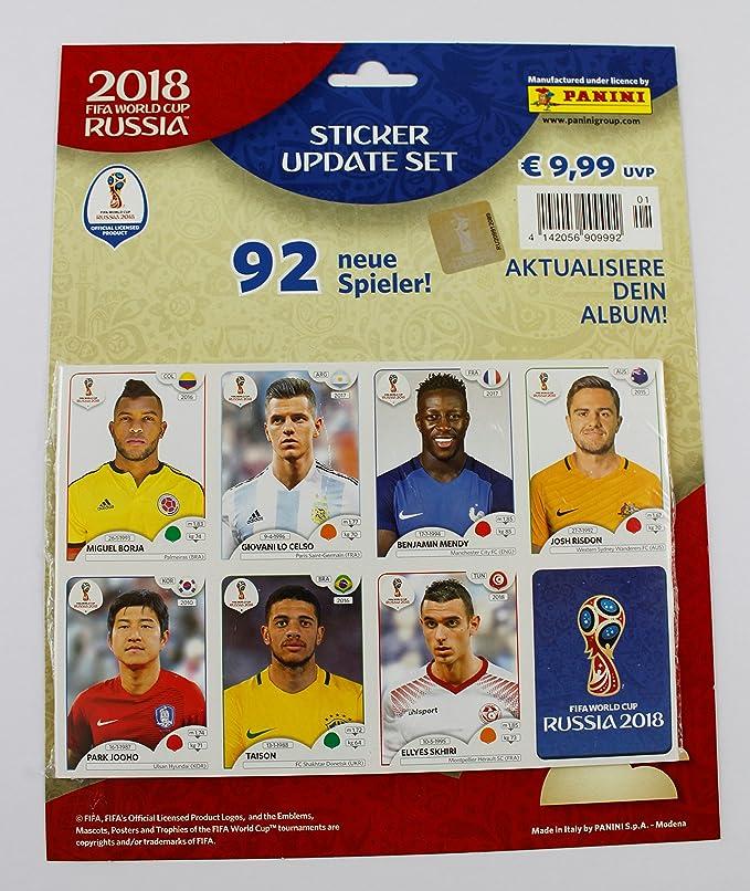 Panini Copa de Mundo 2018 Rusia – Set 92 Update Stickers Neuf Pegatinas réactualiser: Amazon.es: Juguetes y juegos