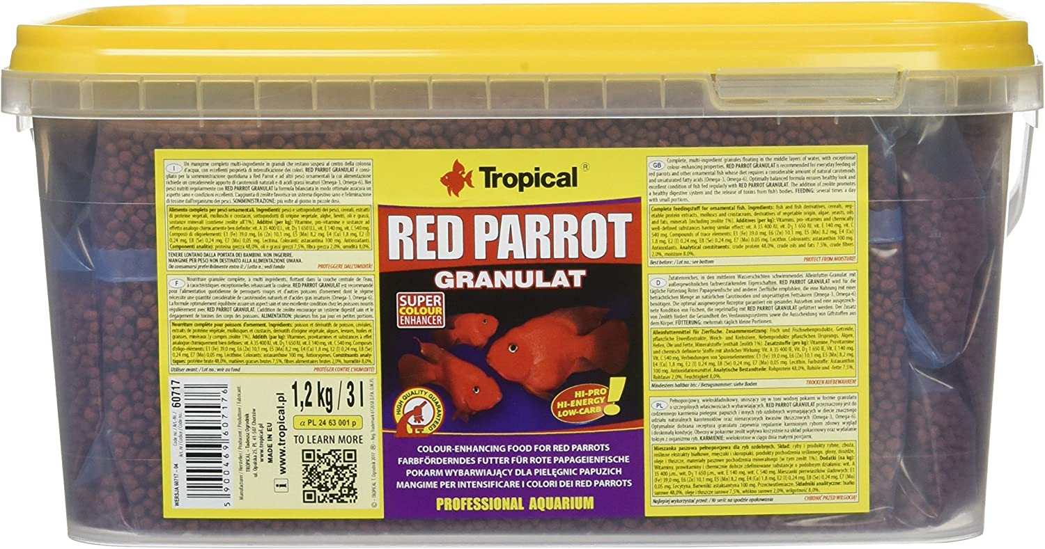 Tropical Red Parrot granulado, 1er Pack (1 x 3000 ml): Amazon.es: Productos para mascotas