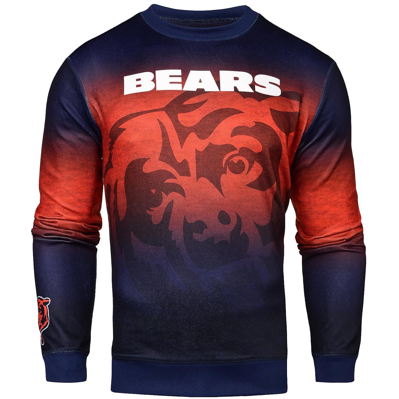 NFLグラデーションプリントクルーネックセーター B01LX43OI2 Small Chicago Bears Chicago Bears Small