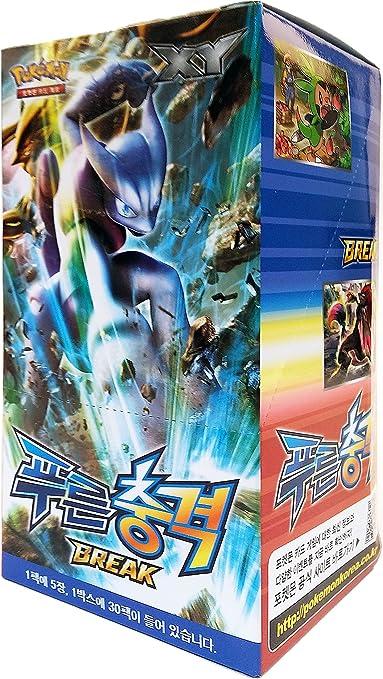 Pokemon Cartas XY8 Booster Pack Caja 30 Packs en 1 caja BLUE IMPACT Corea Ver TCG: Amazon.es: Juguetes y juegos