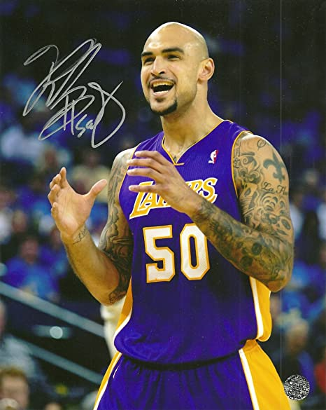 63fb62e9147 Image Unavailable. Image not available for. Color: Los Angeles Lakers  Center Robert Sacre ...