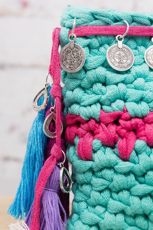 Gallaecia Studio Boho chic bolso de mano clutch para mujer: Amazon.es: Handmade