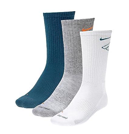 Nike tenis calcetines de Running acolchado Dry Fit Pack de 3, - petrol/weiß