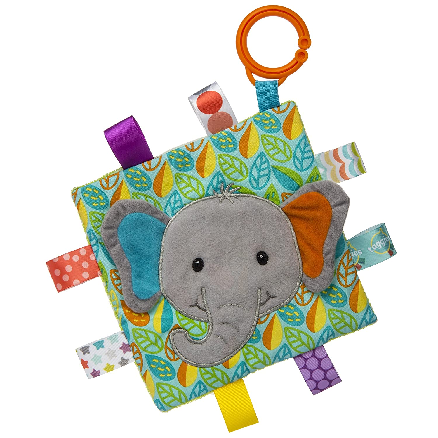 Taggies Crinkle Me Baby Toy, Little Leaf Elephant