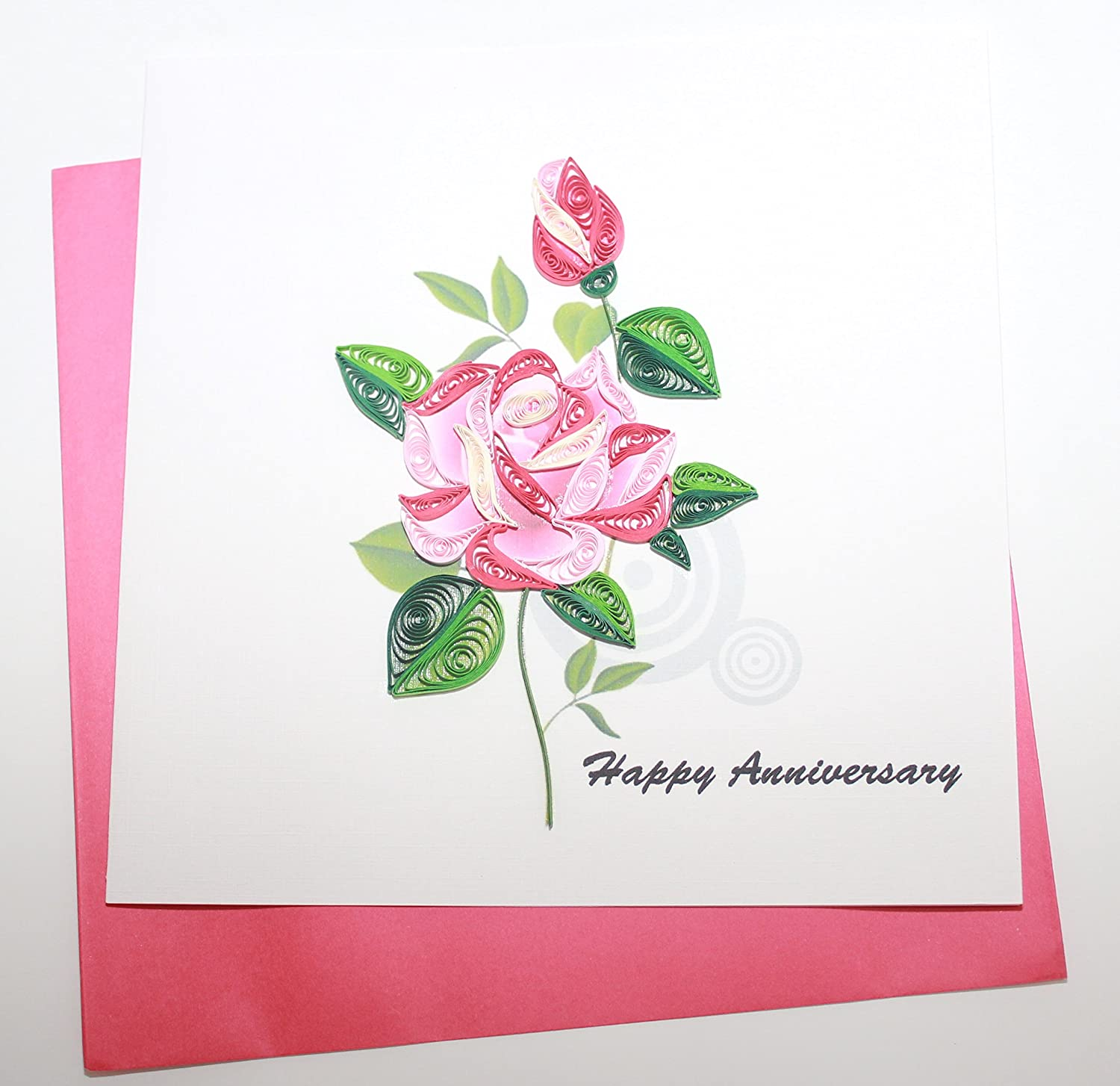 Amazon Handmade Quilling Card Happy Anniversary Card Office