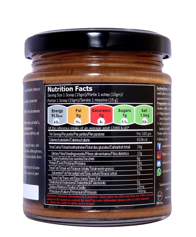 Mantequilla de almendras Fitjars con chocolate oscuro -200g ...