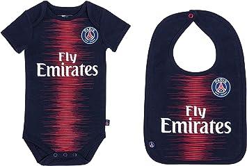 Paris Saint Germain Body + babero para bebé del PSG – Camiseta Fly Emirates – Colección oficial: Amazon.es: Deportes y aire libre