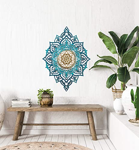 Amazon Com Mandala Wood Home Decor Boho Ethnic Living Room Wall Hanging Morrocan Indian Wall Art Sacred Geometry Ethnic Unique Handmade Spiritual Gift Handmade