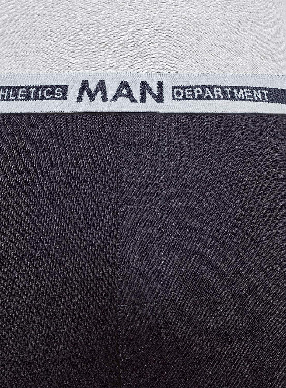 oodji Ultra Homme Pantalon dInt/érieur /à Taille /Élastique