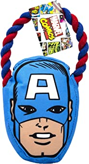 Marvel FFP9918ST Comics Captain America Rope Pull Toy for Dogs | Super Hero Toys for All Dogs and Puppies