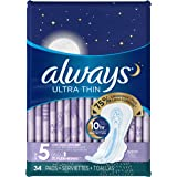 Always Ultra Thin Extra Heavy Overnight Pads - 34 CT