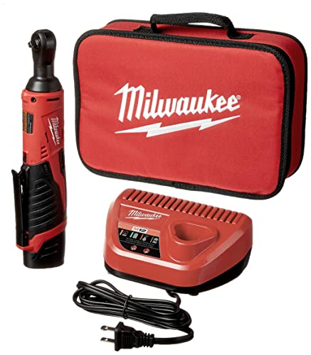 Milwaukee 2456-21 M12 Cordless 1 4 Lithium-Ion Ratchet Kit