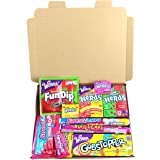 Boîte American Candy Wonka | Sélection coffret bonbons confiseries | Assortiment inclut Nerds et Gobstoppers | Coffret cadeau vintage de 11 pièces | Coffret cadeau vintage