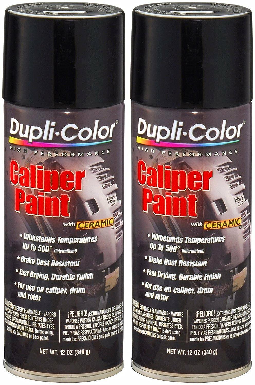 Dupli-Color BCP102 Gloss Black Caliper Paint with Ceramic 12 oz. Aerosol (2 PACK) Krylon