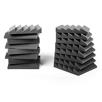 Espuma acústica. Pack de 12 planchas de alta calidad. Dimensiones 30x30 cm. Color