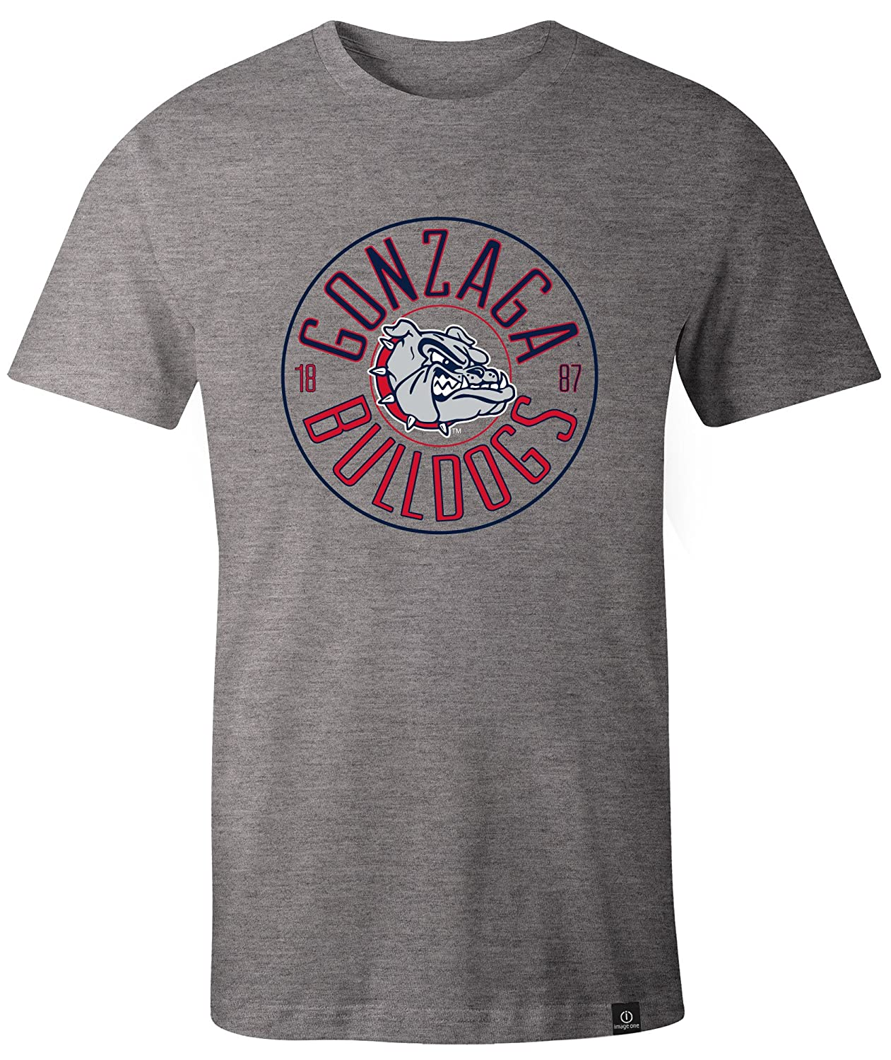 NCAA Gonzaga Bulldogs Adult NCAA Circles Image One Everyday Short sleeve T-Shirt Large,HeatherGrey