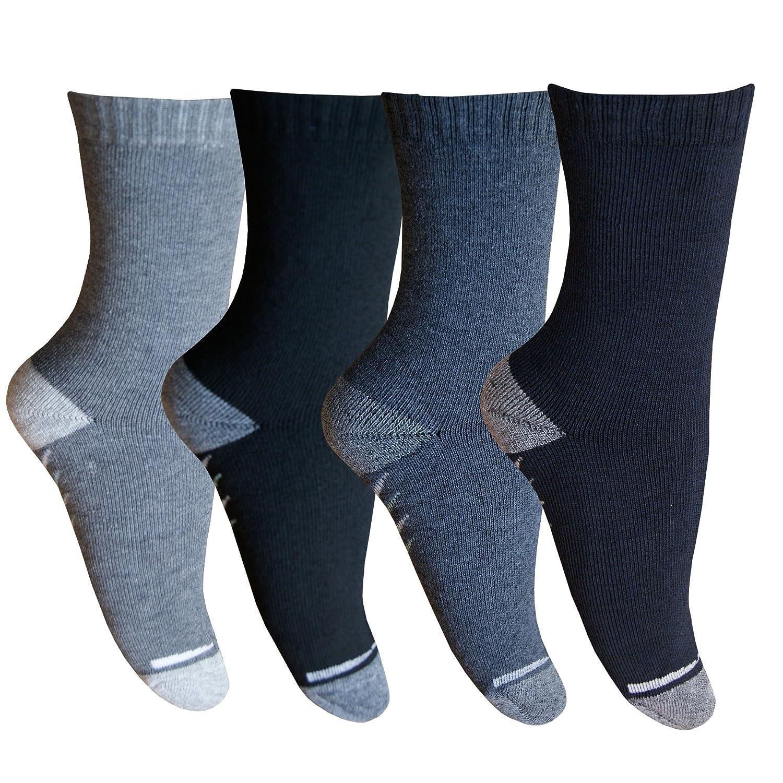 5 10 Paar Thermo Winter Socken Damen Herren Schwarz Weiß Grau Warm Baumwolle von SGS