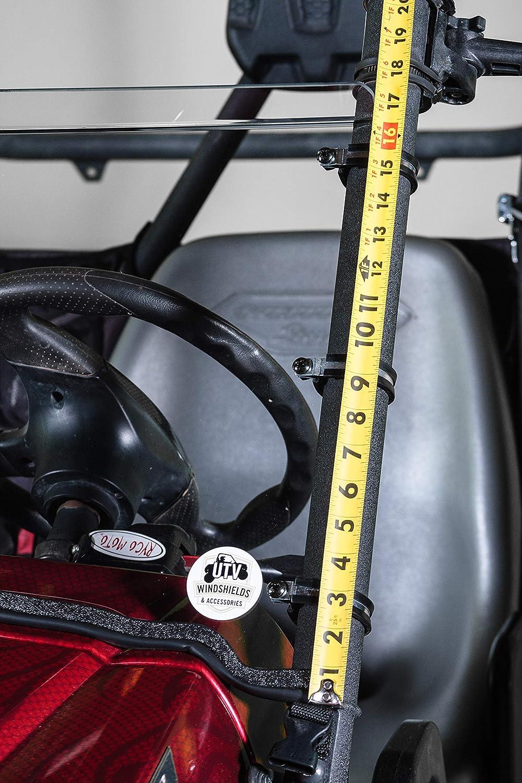 Yamaha Rhino Half UTV Windshield 3//16 Made in the USA!.