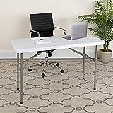 White Granite Flash Folding Utility Table