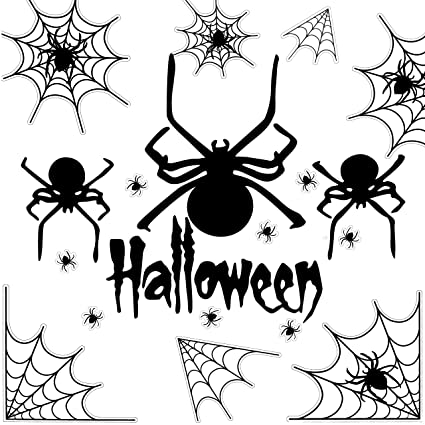 GiBot Spiders Wall Stickers Art Decal Decor for Halloween Party Haunted  House Carnival Vampire and Batman Bedroom Living Room Decoration