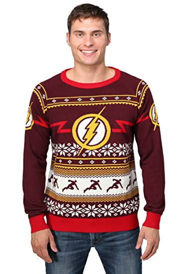 Fun Costumes Flash Logo Mens Ugly Christmas Sweater - XS Amazon.com: