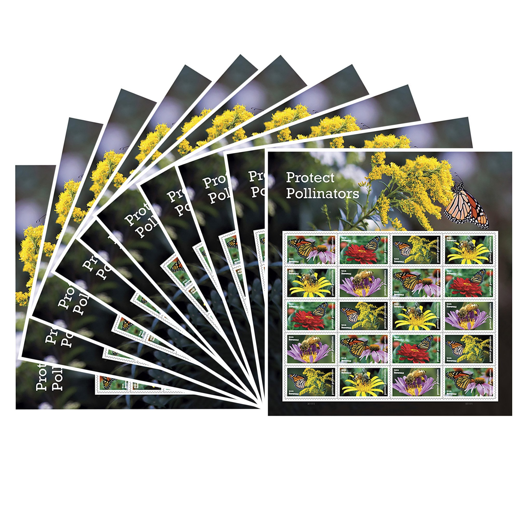 Protect Pollinators 10 Sheets of 20 Forever USPS First Class one Ounce Postage Stamps Environment Wedding Party