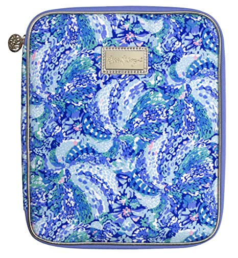 Lilly Pulitzer Agenda Folio with Zip Close, Sized to Fit All Lilly Personal Planners, Wave After Wave