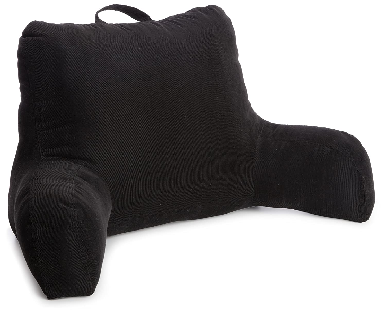 Corduroy bed rest pillow -