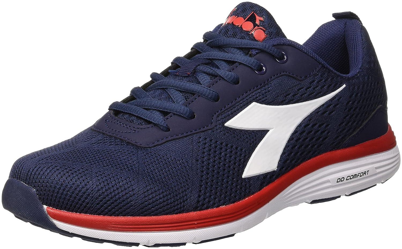 Diadora Swan +, Zapatillas de Running para Hombre 40 EU|Azul (Blu Classico Rosso Nastro)