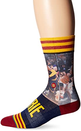 Stance Mens Kyrie Irving Crew Sock, Yellow, ...