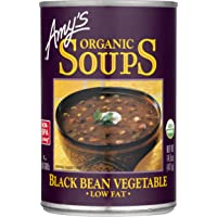 Amy's Organic Black Bean Vegetable Soup, Low Fat, Vegan, 14.5-Ounce