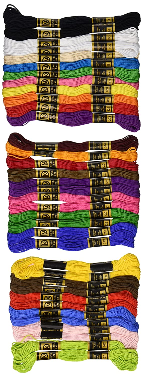 Cotton Embroidery Floss Pack 8.75 Yards 36/Pkg-Primary Colors Notions - In Network 3001-25