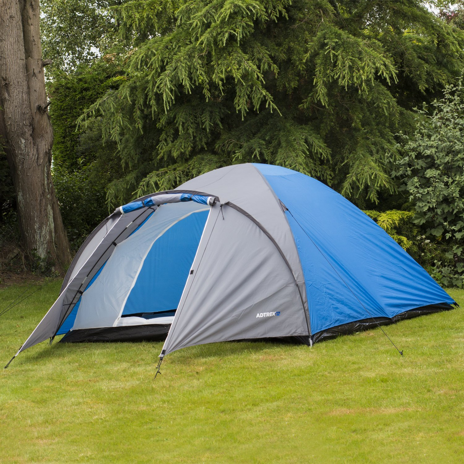 Adtrek Double Skin Dome 4 Man Berth C&ing Festival Family Tent & North Gear Camping Pop Up 4 Man Tent Blue: Amazon.co.uk: Sports ...