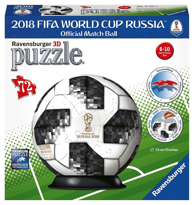Ravensburger - Puzzle 3D Adidas Copa Mundial de Fútbol de 2018 72 ...