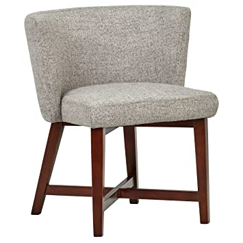 Peachy Rivet Intersection Mid Century Modern Curved Back Accent Dining Room Kitchen Chair 29 9 Inch Height Light Grey Wood Inzonedesignstudio Interior Chair Design Inzonedesignstudiocom
